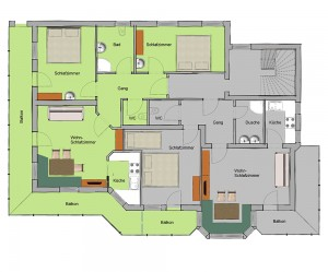 Roomplan Apartment Gerlossteinblick